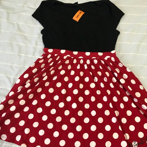 a72cbdacb Disney Dresses | Minnie Mouse Red Polka Dot Dress | Poshmark